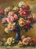 Roses in a Vase, C1910 Lámina giclée por Pierre-Auguste Renoir