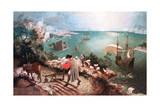 Landscape with the Fall of Icarus, C1555 Reproduction procédé giclée par Pieter Bruegel the Elder