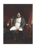 Napoleon at Fontainebleau During the First Abdication Reproduction procédé giclée par Paul Delaroche