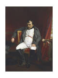 Napoleon at Fontainebleau During the First Abdication Lámina giclée por Paul Delaroche