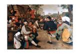 The Peasant Dance, 1568-1569 Giclée-tryk af Pieter Bruegel the Elder