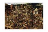 Fair with a Theatrical Performance, C1580-1630 Giclée-vedos tekijänä Pieter Brueghel the Younger