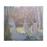 Figures in a Spring Landscape (Sacred Grov), 1897 Reproduction procédé giclée par Maurice Denis
