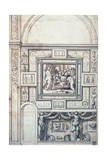 Project for a Wall Decoration of a Vault, 16th Century Giclée-Druck von Perino Del Vaga