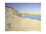 The Beach at Saint-Briac. Op. 212 (Sandy Seashor), 1890 Giclee Print by Paul Signac