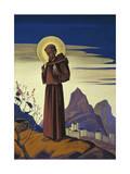 Saint Francis, 1932 Giclée-vedos tekijänä Nicholas Roerich