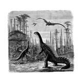 Ideal Jurassic Landscape in America, 1884 Lámina giclée por Othniel Charles Marsh