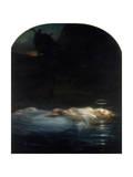 La jeune Martyre (1855) Reproduction procédé giclée par Paul Delaroche
