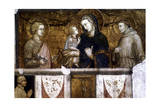 Madonna and Child Between St Francis and St John the Evangelist, C1320S Giclée-tryk af Pietro Lorenzetti