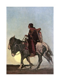 On the October Trail, Early 20th Century Giclée-Druck von Newell Convers Wyeth