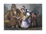The Happy Family, 1847 Giclee Print by Paul Gavarni