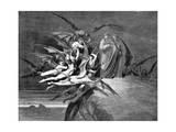 Dante and Virgil Beset by Demons on their Passage Through the Eighth Circle, 1861 Giclee-trykk av Gustave Doré