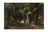 Forest of the Villa Borghese, Late 18Th/Early 19th Century Giclée-Druck von Pierre Henri de Valenciennes