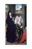Isabel of Portugal with St Elizabeth, 1457-1460 ジクレープリント : ペトルス・クリストゥス