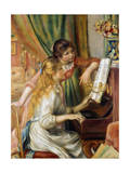 Young Girls at the Piano, 1892 Giclee-trykk av Pierre-Auguste Renoir