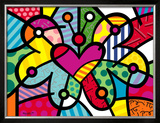 Heart Butterfly Print by Romero Britto