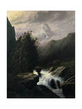Storm on the Cervin Mountain, 19th Century Giclee-trykk av Gustave Doré