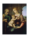 The Holy Family, or Madonna with the Beardless Joseph, C1506 Reproduction procédé giclée par  Raphael