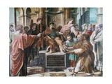 The Conversion of the Proconsul, 1515-1516 Reproduction procédé giclée par  Raphael
