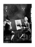 The Macaroni Painter, or Billy Dimple Sitting for His Picture, 1770 Giclee Print by Robert Dighton