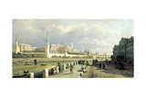 View of the Kremlin from the Sophia Embankment in Moscow, 1879 Giclée-Druck von Pyotr Petrovich Vereshchagin