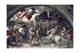 Pope Leo I, Repulsing Attila, (Detail), 1511-14 Reproduction procédé giclée par  Raphael