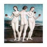 The Three Graces, 1504-1505 Lámina giclée por  Raphael