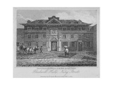 View of Blackwell Hall on King Street with Carriage and Figures, City of London, 1817 Giclee Print by Thomas Higham