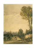 Paris Seen from the Pere Lachaise Cemetery, C1825 Giclee Print by Richard Parkes Bonington