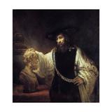 Aristotle before the Bust of Homer, 1653 Giclée-tryk af  Rembrandt van Rijn