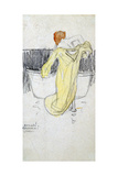 Red-Headed Woman ... in the Bathroom, C1900-1917 Giclee Print by Raphael Kirchner