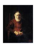 Portrait of an Old Man in Red, 1652-1654 Impressão giclée por  Rembrandt van Rijn