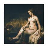 Bathsheba at Her Bath , 1654 Impressão giclée por  Rembrandt van Rijn