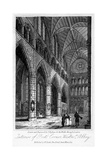 Interior of Poets' Corner, Westminster Abbey, London, 1817 Giclee Print by Thomas Higham