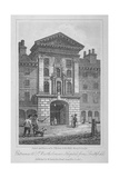 View of the Entrance of St Bartholomew's Hospital from Smithfield, City of London, 1816 Giclee Print by Thomas Higham
