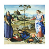 Vision of a Knight, C1504 Reproduction procédé giclée par  Raphael
