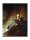 Jeremias trauert über die Zerstörung von Jerusalem, 1630 Giclée-Druck von  Rembrandt van Rijn
