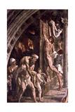 The Fire in the Borgo' (Detail), 1514 Reproduction procédé giclée par  Raphael