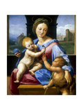The Madonna and Child with the Infant Baptist' ('The Garvagh Madonna), C1509-1510 Reproduction procédé giclée par  Raphael
