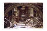 The Expulsion of Heliodorus from the Temple, 1512-1514 Reproduction procédé giclée par  Raphael
