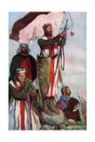 Crusaders Sighting Jerusalem, 1909 Gicléetryck av Stephen Reid