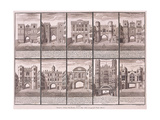 London's Ten City Gates, 1720 Giclee Print by Sutton Nicholls