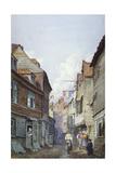 View of Figures in Glean Alley, Bermondsey, London, C1825 Gicléetryck av W Barker