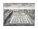 Bird's-Eye View of Leicester Square, Westminster, London, C1750 Giclee Print by Sutton Nicholls