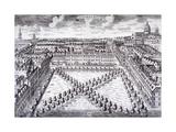 Bird's-Eye View of Charterhouse Square, Finsbury, London, C1750 Giclee Print by Sutton Nicholls