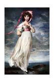 Sarah Barrett Moulin (Pinkie), 1794 Giclée-tryk af Thomas Lawrence