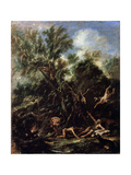 The Temptation of Saint Anthony, C1706-C1707 Giclée-tryk af Sebastiano Ricci