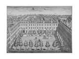Bird's-Eye View of Devonshire Square, City of London, 1740 Giclee Print by Sutton Nicholls