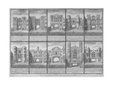Ten Gateways in the City of London and the City of Westminster, 1720 Giclee Print by Sutton Nicholls