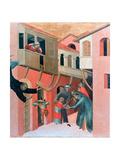 Blessed Agostino Novello Altarpiece, (Detail), 1324 Giclee Print by Simone Martini